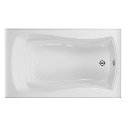 "Mariposa(R) 60"" x 36"" alcove bath with integral flange and right-hand drain"