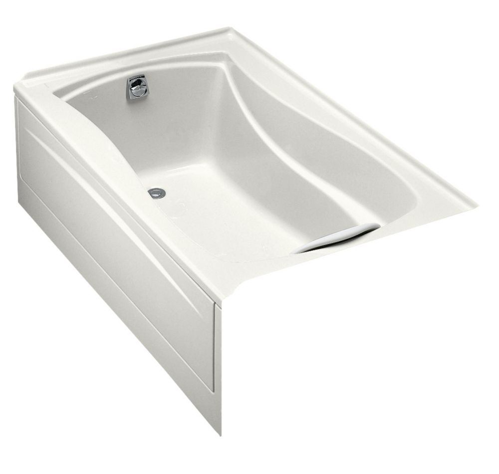 Mariposa 5 Feet Bathtub with Integral Tile Flange and Left-Hand Drain in White