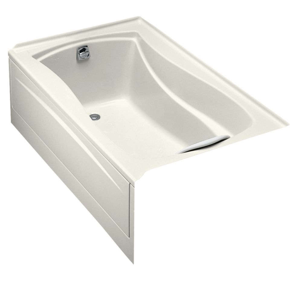 Mariposa 5 Feet Bathtub with Integral Tile Flange and Left-Hand Drain in Biscuit