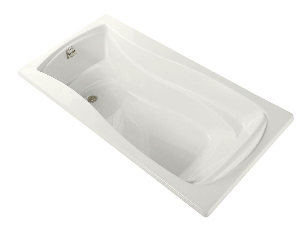Mariposa 6 Feet Alcove Bathtub in White