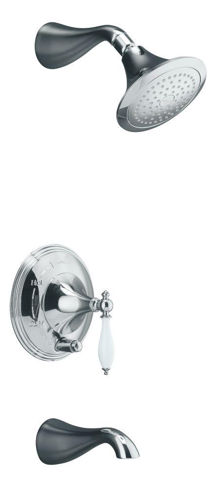 Garniture de robinet à régulation de pression Finial(R) Traditional Rite-Temp(TM) de baignoire et...