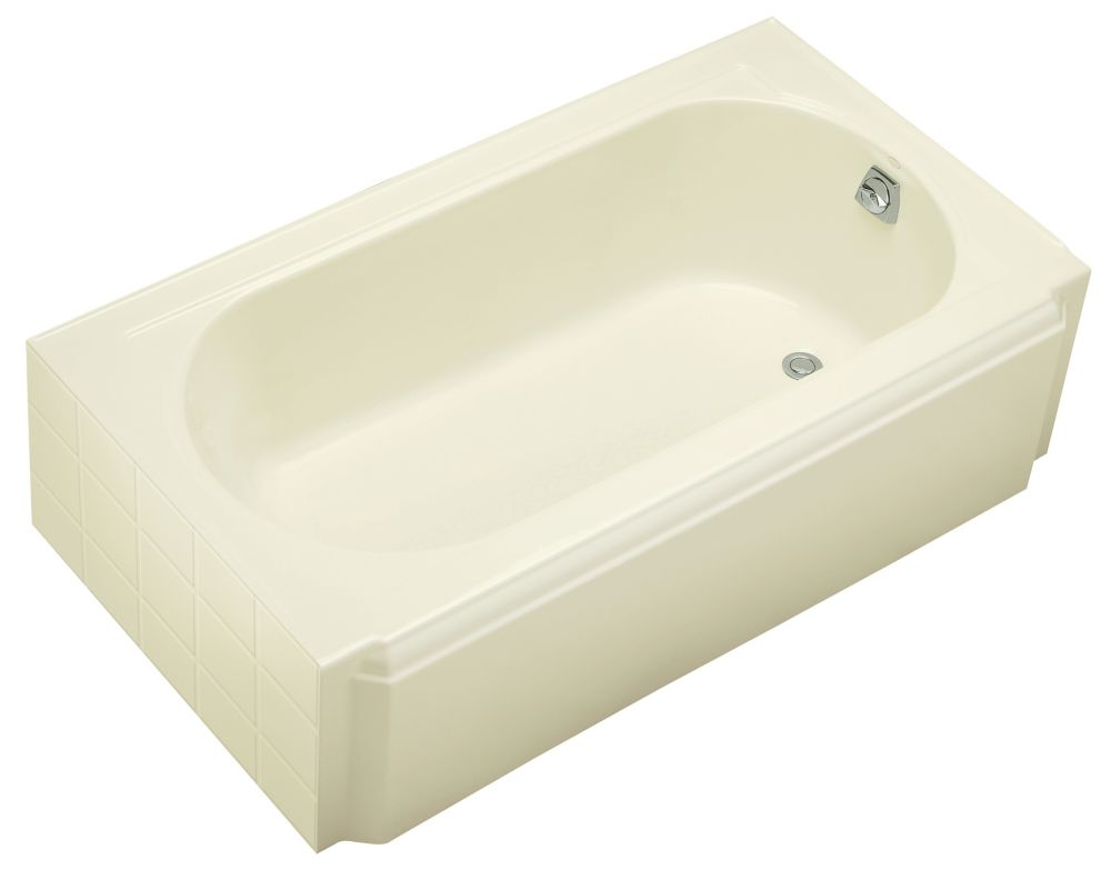 Memoirs 5 Feet Alcove Bathtub in Biscuit