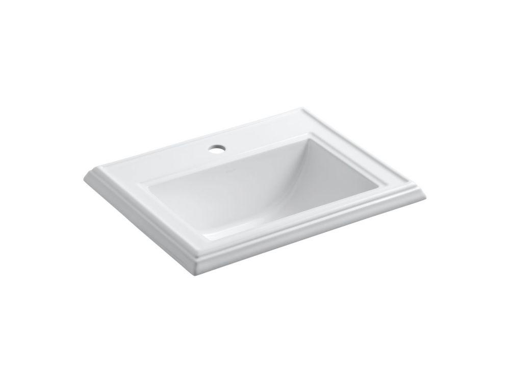 Memoirs 22 3/4-inch L x 18-inch H Self-Rimming Bathroom Sink in White