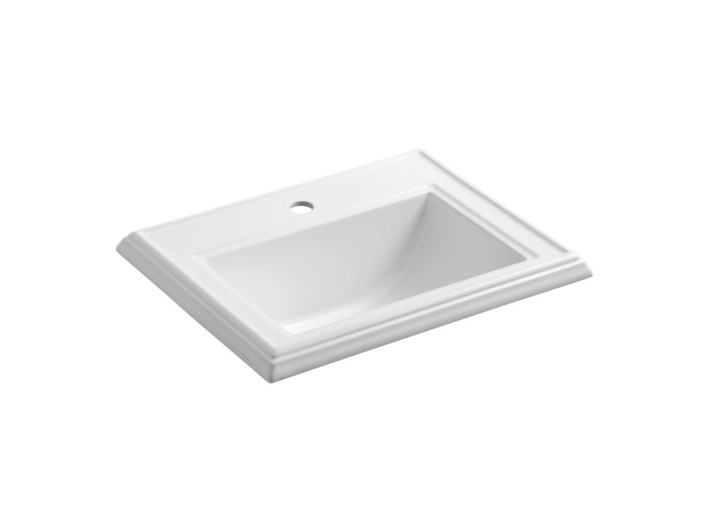 Glacier Bay Oval Drop In Bathroom Sink In White The Home