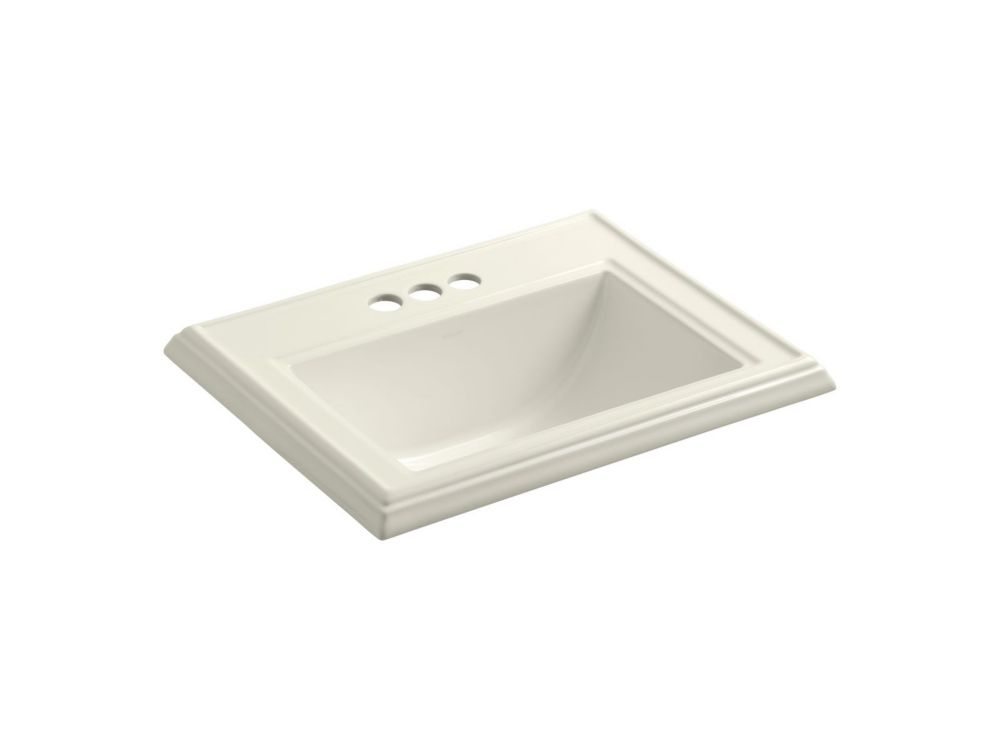 Memoirs 22 3/4-inch L x 18-inch H Self-Rimming Bathroom Sink in Biscuit