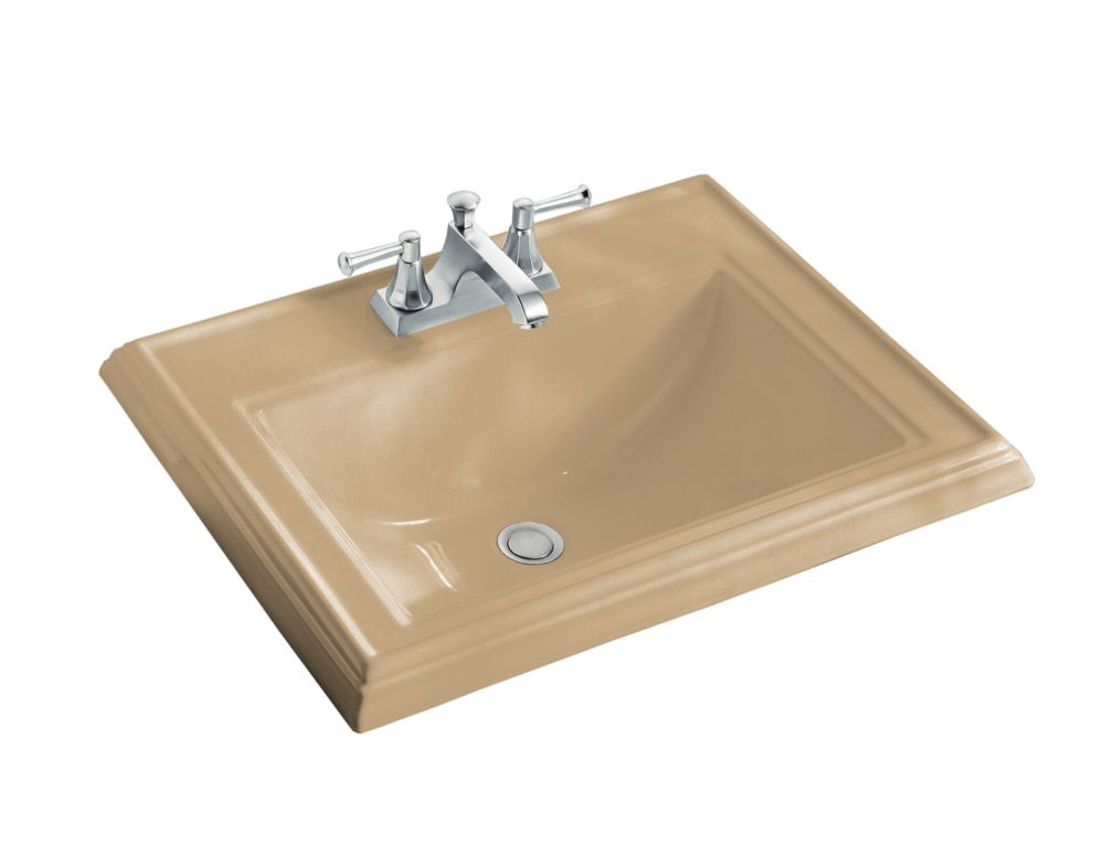 Memoirs 22 3/4-inch L x 18-inch H Self-Rimming Bathroom Sink in Mexican Sand