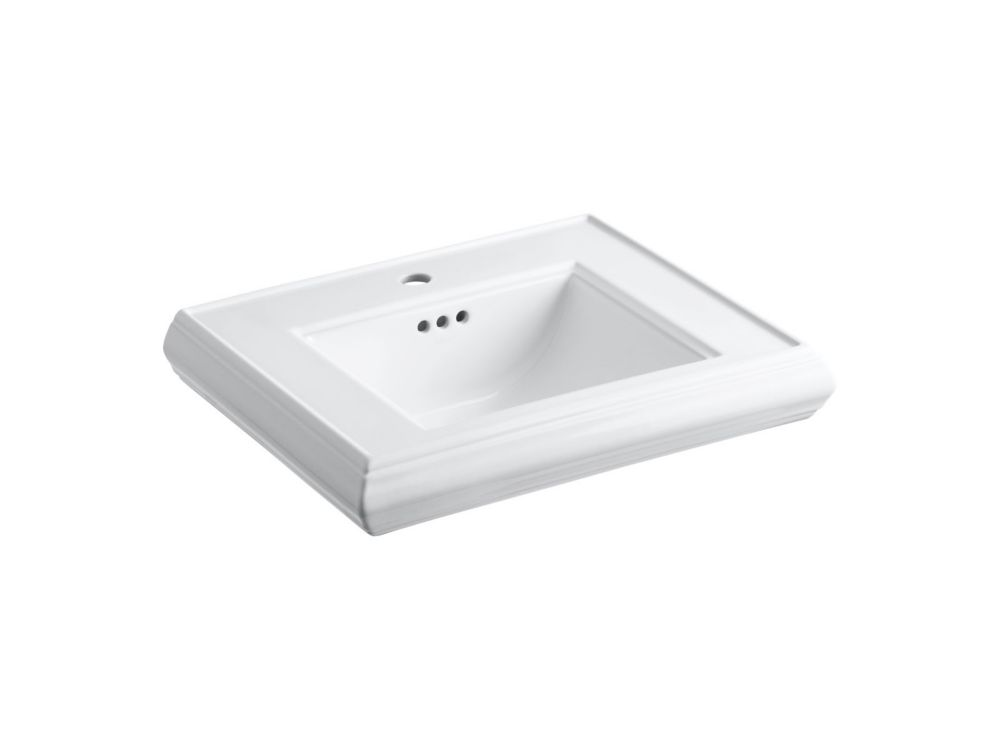 Memoirs Bathroom Pedestal Sink Basin in White