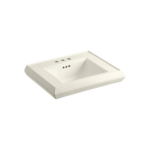 KOHLER Memoirs(R) pedestal/console table bathroom sink basin with 4 inch centerset faucet holes