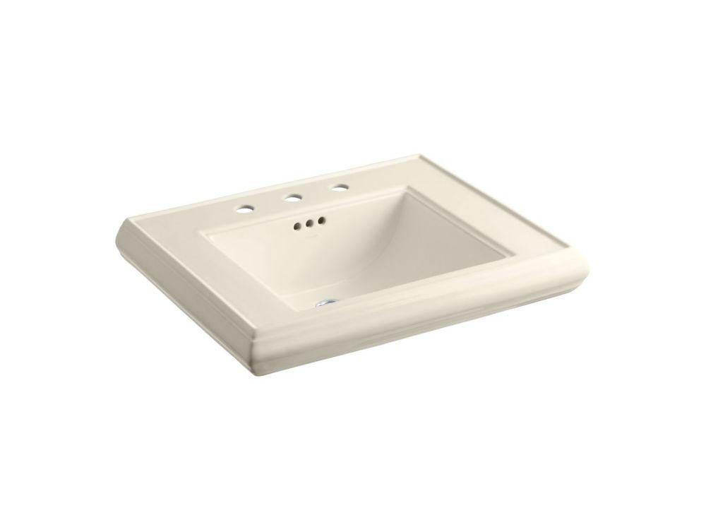 Memoirs Bathroom Pedestal Sink Basin in Almond
