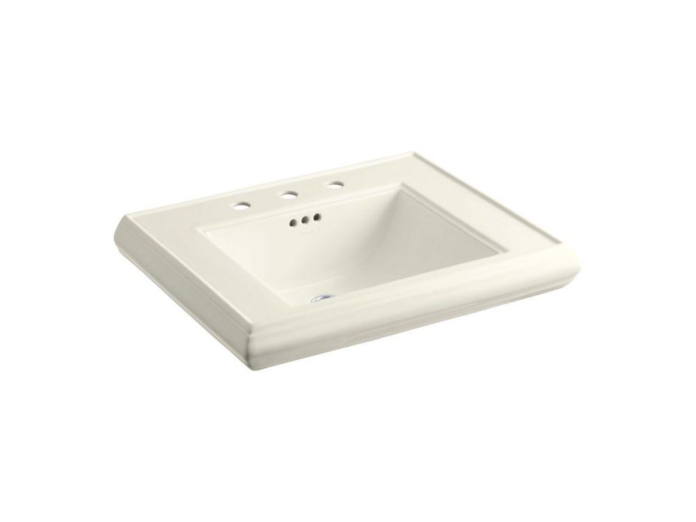 Memoirs Bathroom Pedestal Sink Basin in Biscuit
