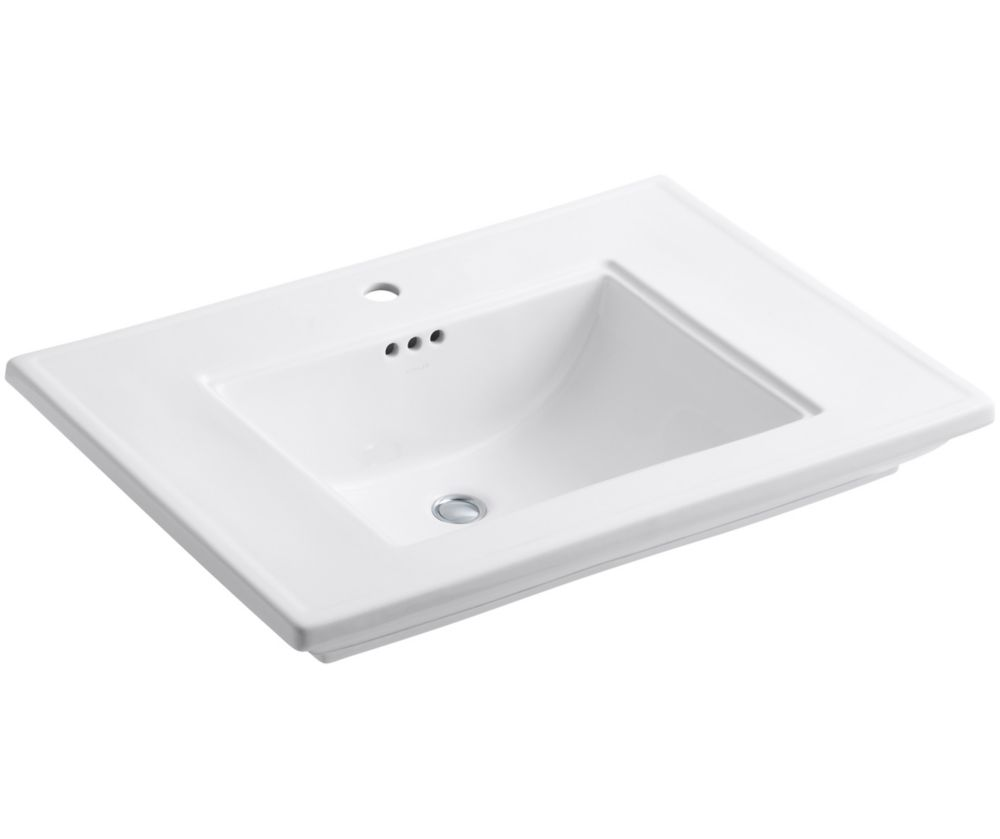 Memoirs 30-inch L x 21 3/4-inch H Bathroom Sink with Stately Design in White