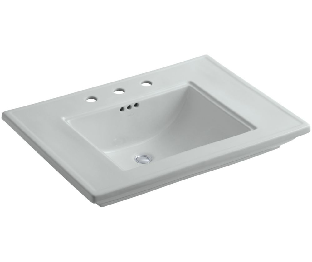 Memoirs 30-inch L x 21 3/4-inch H Bathroom Sink with Stately Design in Ice Grey