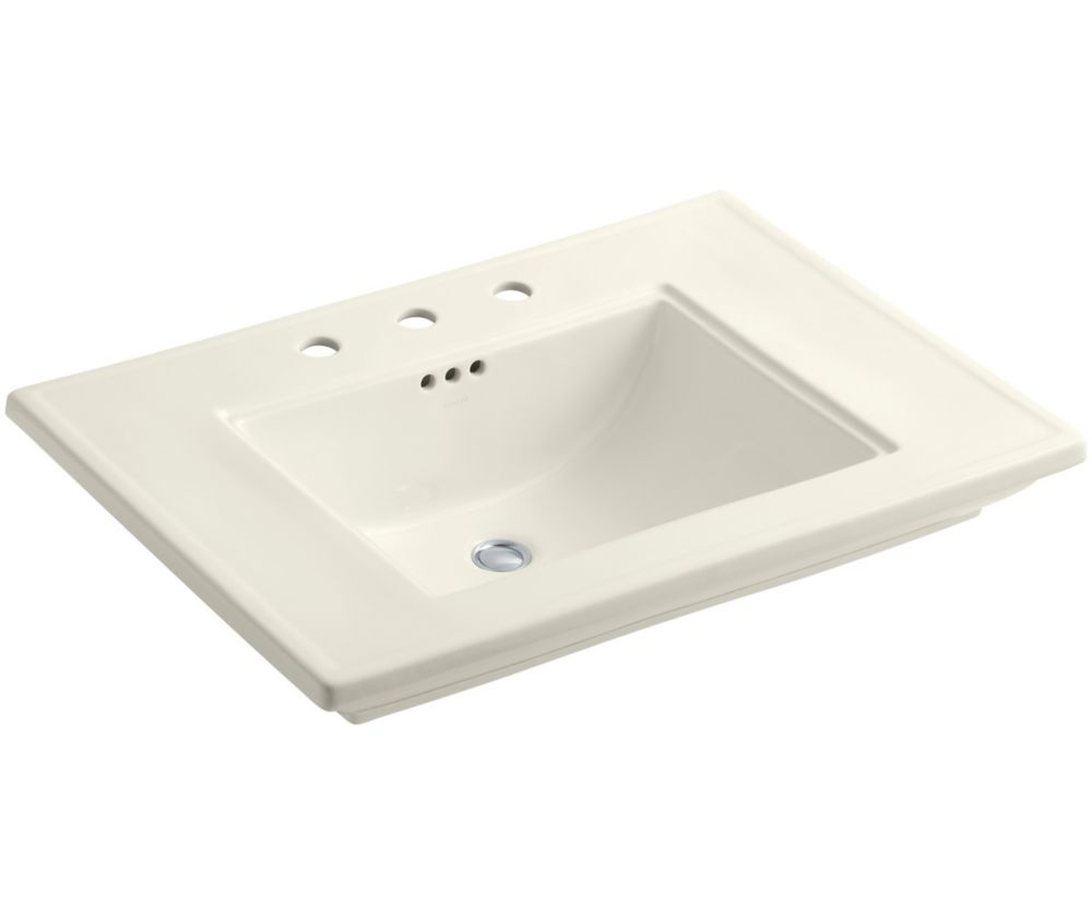 Memoirs 30-inch L x 21 3/4-inch H Bathroom Sink with Stately Design in Biscuit