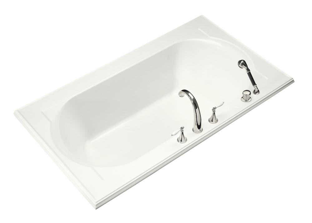 KOHLER Memoirs 6 Feet Drop-in Bathtub in White