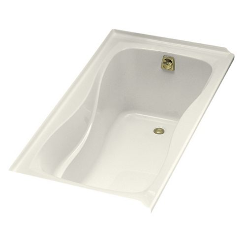 """KOHLER Hourglass(R) 60"""" x 32"""" alcove bath with integral flange and right-hand drain"""