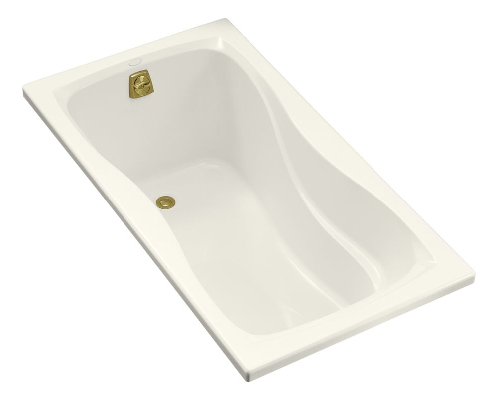 Hourglass 32 5 Feet Acrylic Bathtub in Biscuit
