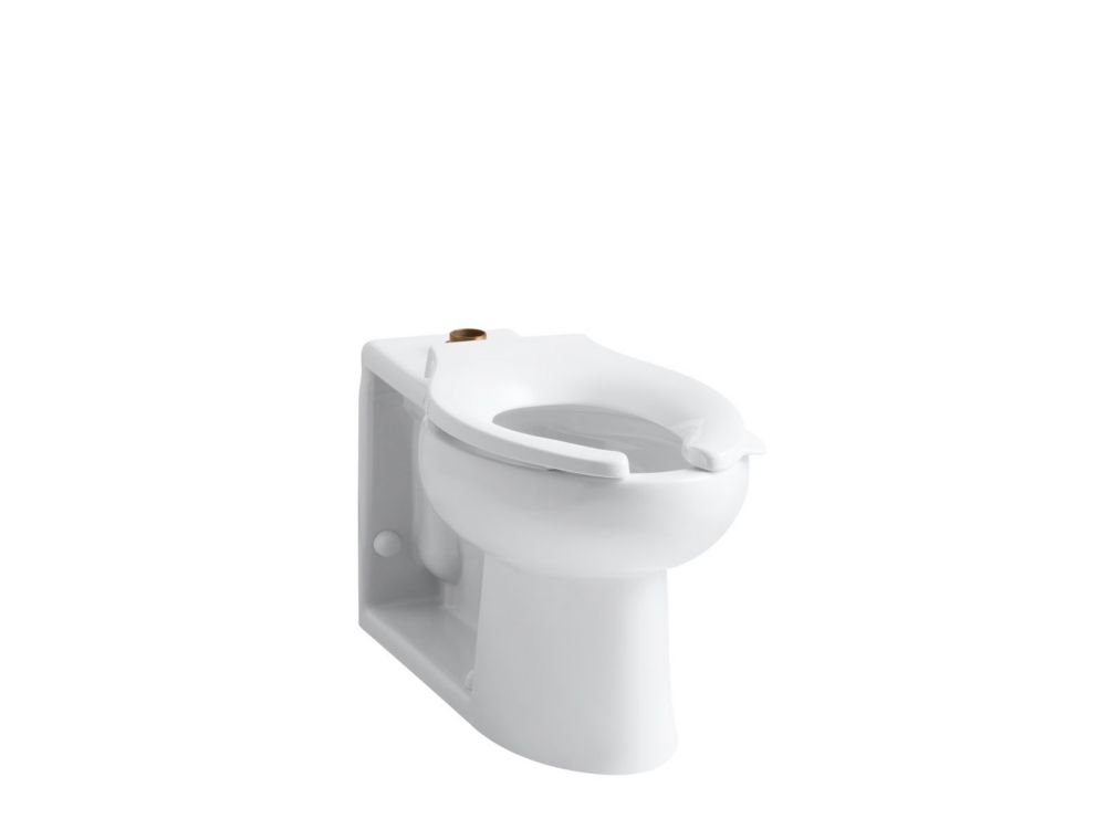 Anglesey Elongated Toilet Bowl Only in White