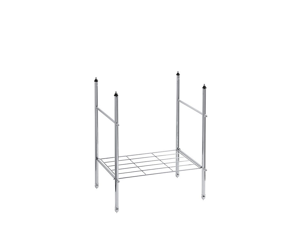 Memoirs Vanity Cabinet Table Legs in Polished Chrome