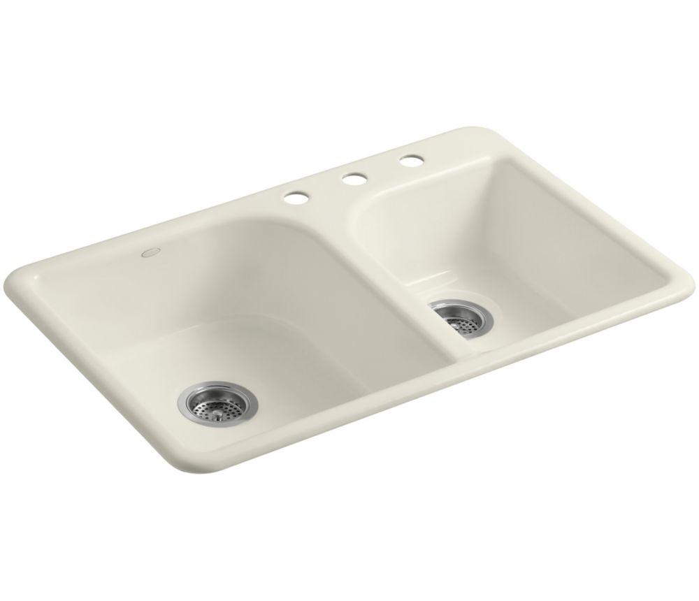Efficiency(Tm) Self-Rimming Kitchen Sink in Biscuit