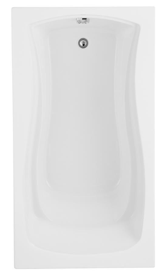 Baignoire de 5,5 pi Mariposa(TM) avec drain réversible