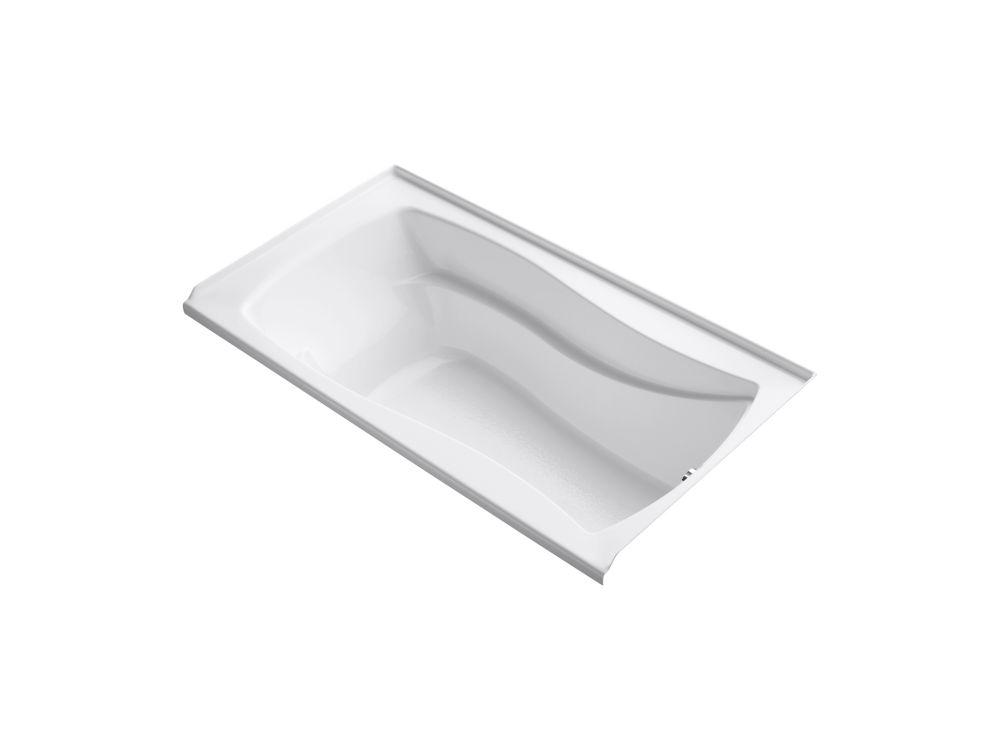 Mariposa 5 Feet 6-Inch Alcove Bathtub in White