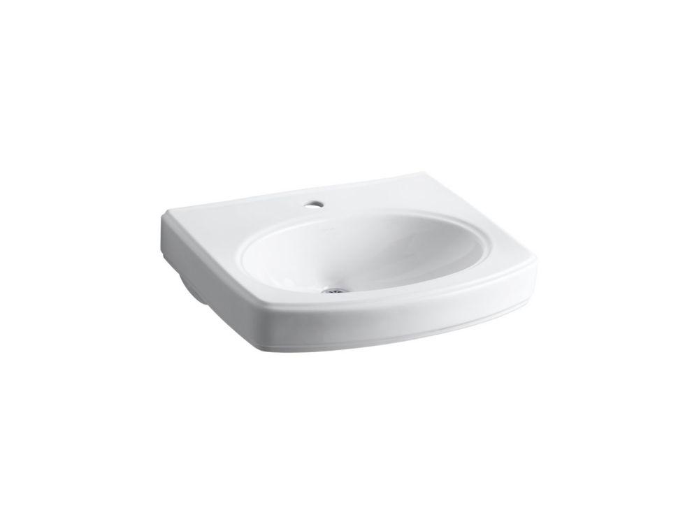 Pinoir Pedestal Basin in White