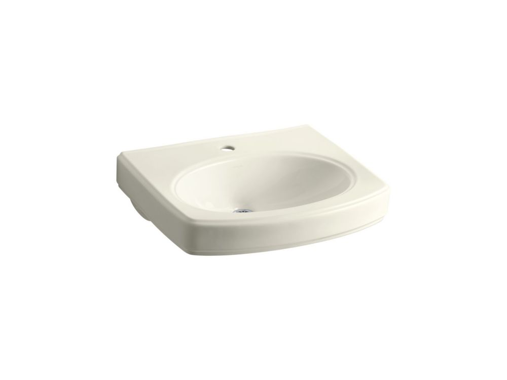Pinoir Pedestal Basin in Biscuit