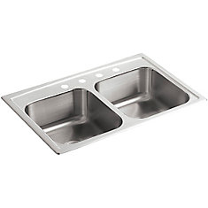 Toccata(Tm) Double Equal Self-Rimming Kitchen Sink