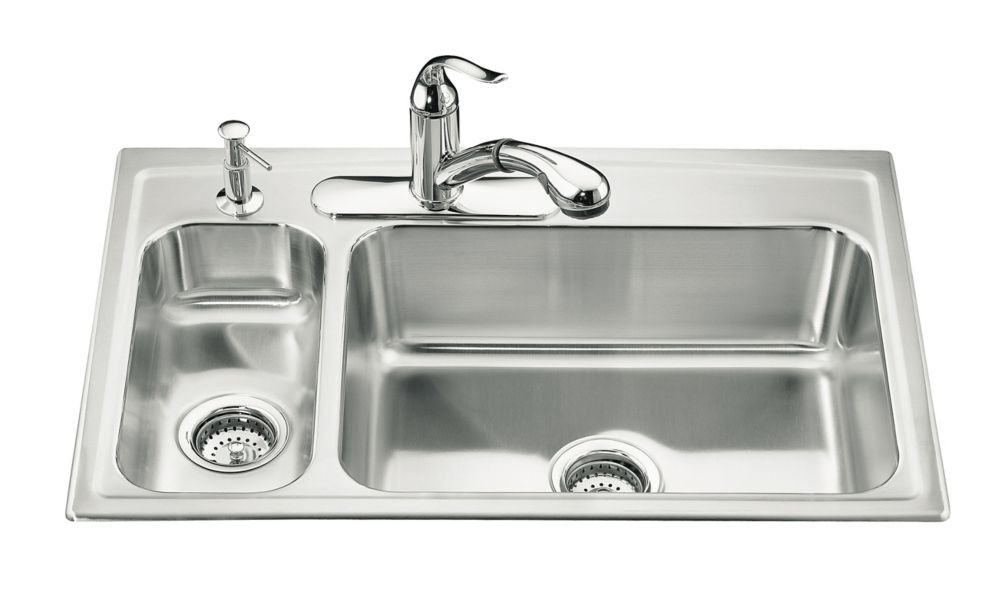 Toccata(Tm) High/Low Self-Rimming Kitchen Sink