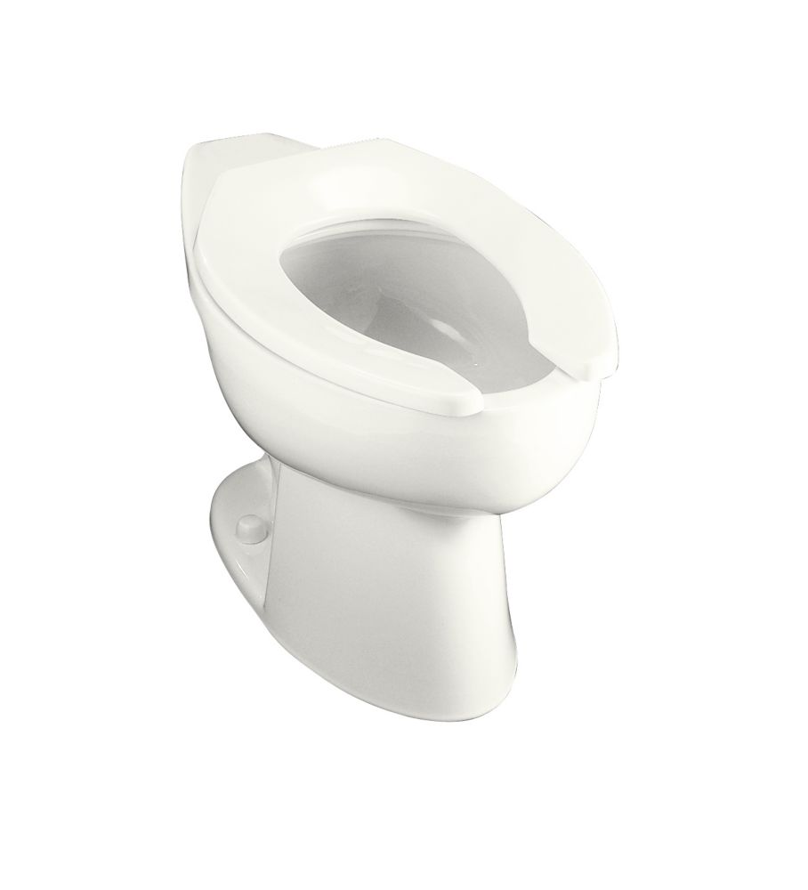 Highcrest� Elongated Toilet Bowl Only with Rear Spud in White