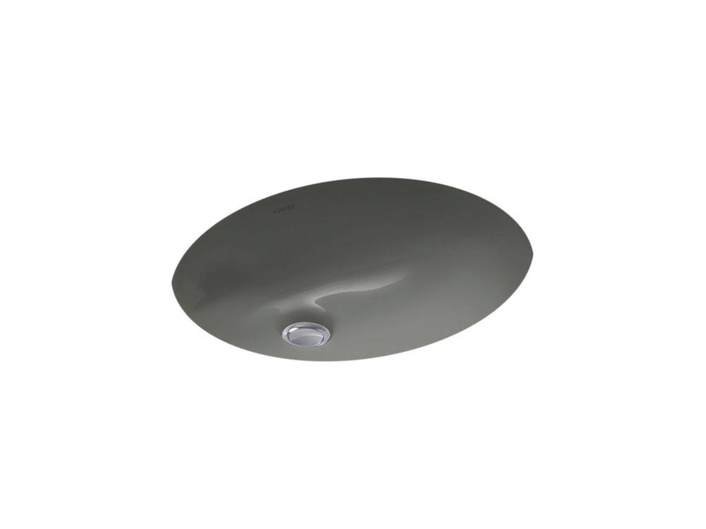 Caxton 20-inch L x 31-inch H Undercounter Bathroom Sink in Thunder Grey