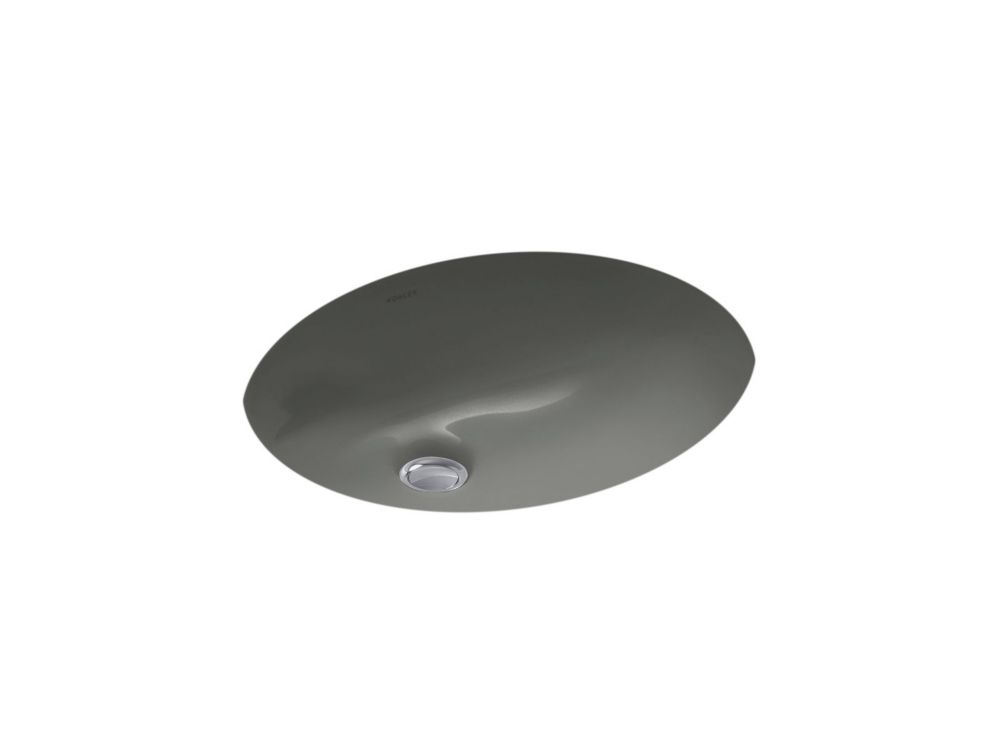 Caxton 20-inch L x 31-inch H Undercounter Bathroom Sink in Thunder Grey