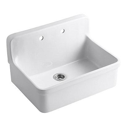 KOHLER Gilford(Tm) Apron-Front Wall-Mount Kitchen Sink in White ...