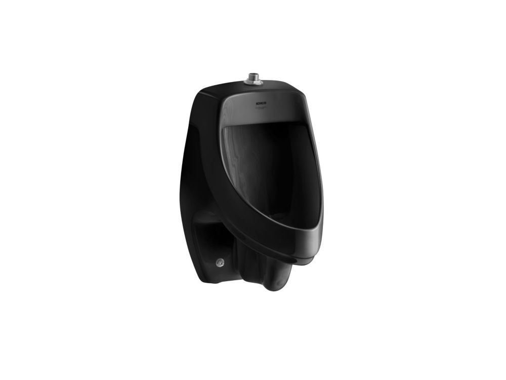 Kohler Dexter Tm Elongated Urinal In Black Black The