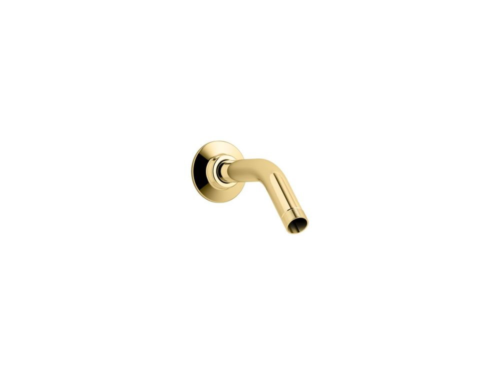 Showerarm And Flange, 5-3/8 Inch Long in Vibrant Polished Brass