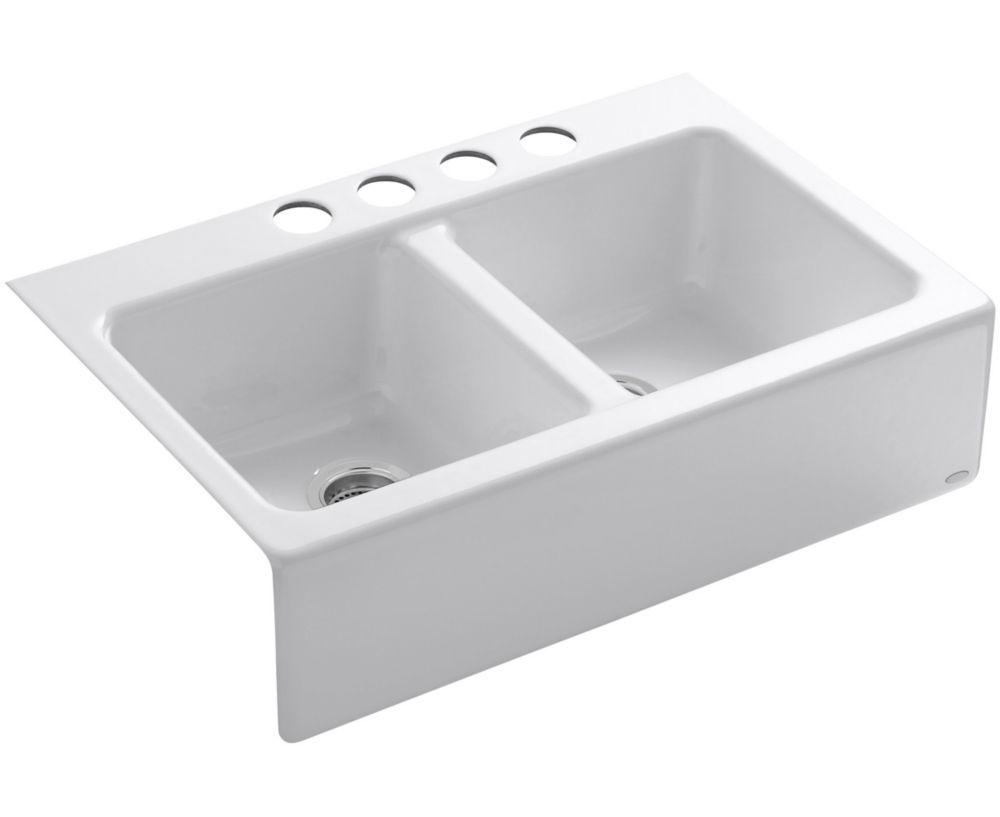 Hawthorne(Tm) Apron-Front, Undercounter Kitchen Sink in White