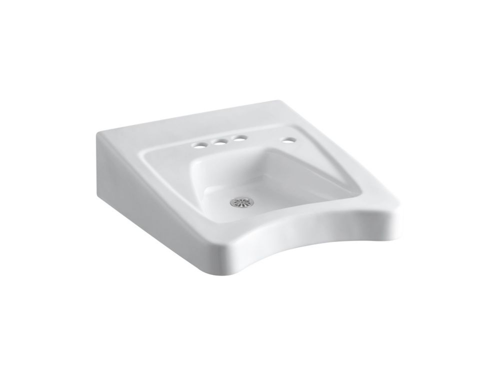 Morningside Wheelchair Bathroom Sink with 4-inch Centres in White