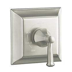 KOHLER Garniture de valve à régulation de pression Memoirs(R) Rite-Temp(TM) avec désign Stately et poignée à levier