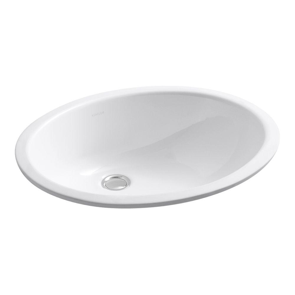 Caxton 19 1/4-inch L x 16 1/4-inch W Undercounter Bathroom Sink in White