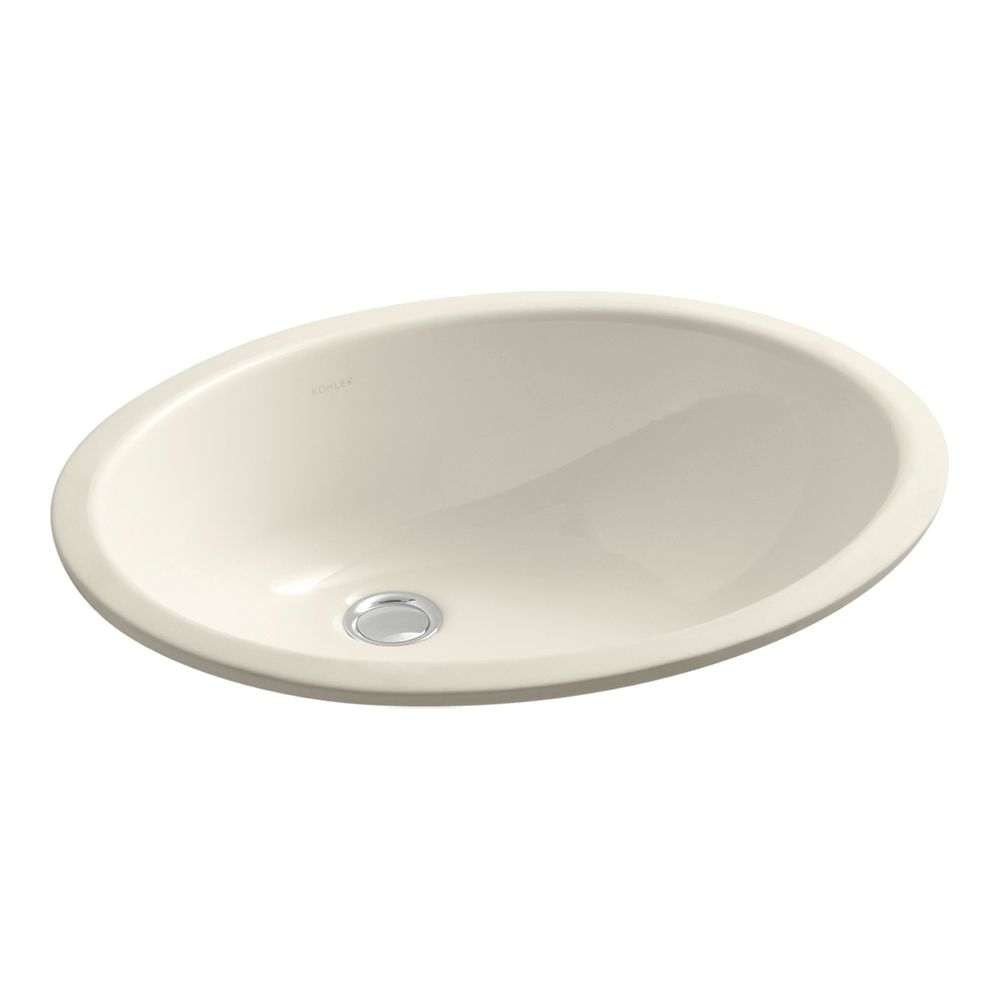 Caxton 17-inch L x 14-inch W Undercounter Bathroom Sink in Almond