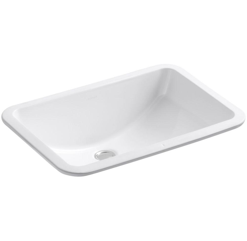 Ladena 20 7/8-inch L x 14 3/8-inch W Undercounter Bathroom Sink in White