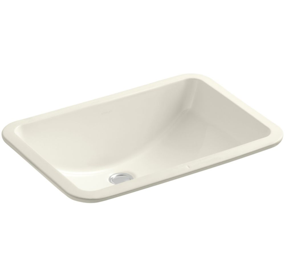 Ladena 20 7/8-inch L x 14 3/8-inch W Undercounter Bathroom Sink in Biscuit