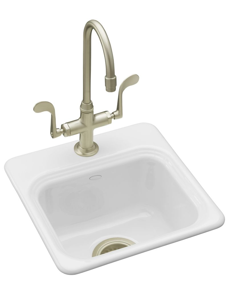 Northland(Tm) Self-Rimming Entertainment Sink in White K-6579-1-0 in Canada