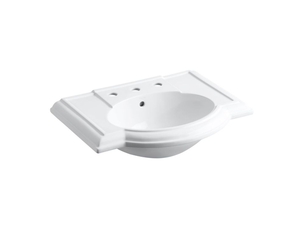 Devonshire Lavatory Basin in White K-2295-8-0 Canada Discount