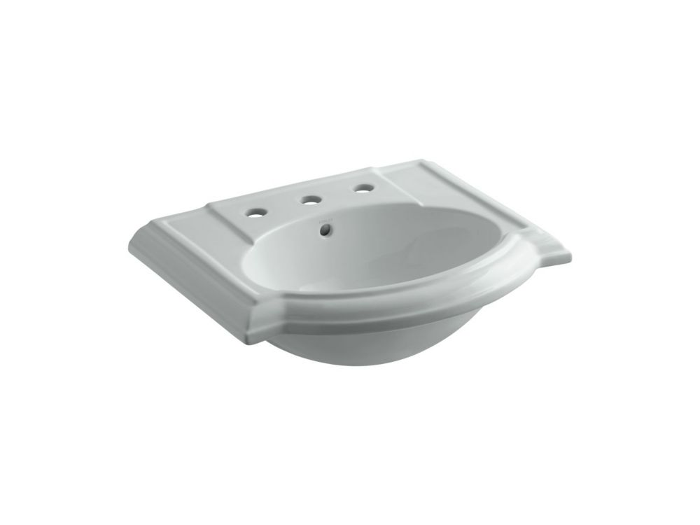Devonshire Bathroom Sink Basin in Ice Grey