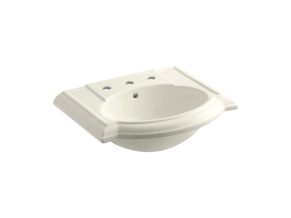 Devonshire Bathroom Sink Basin in Biscuit