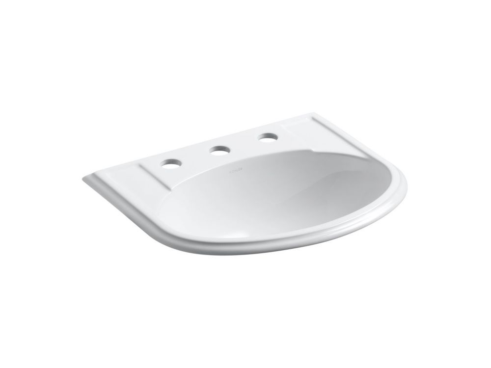 Devonshire Self-Rimming Bathroom Sink in White