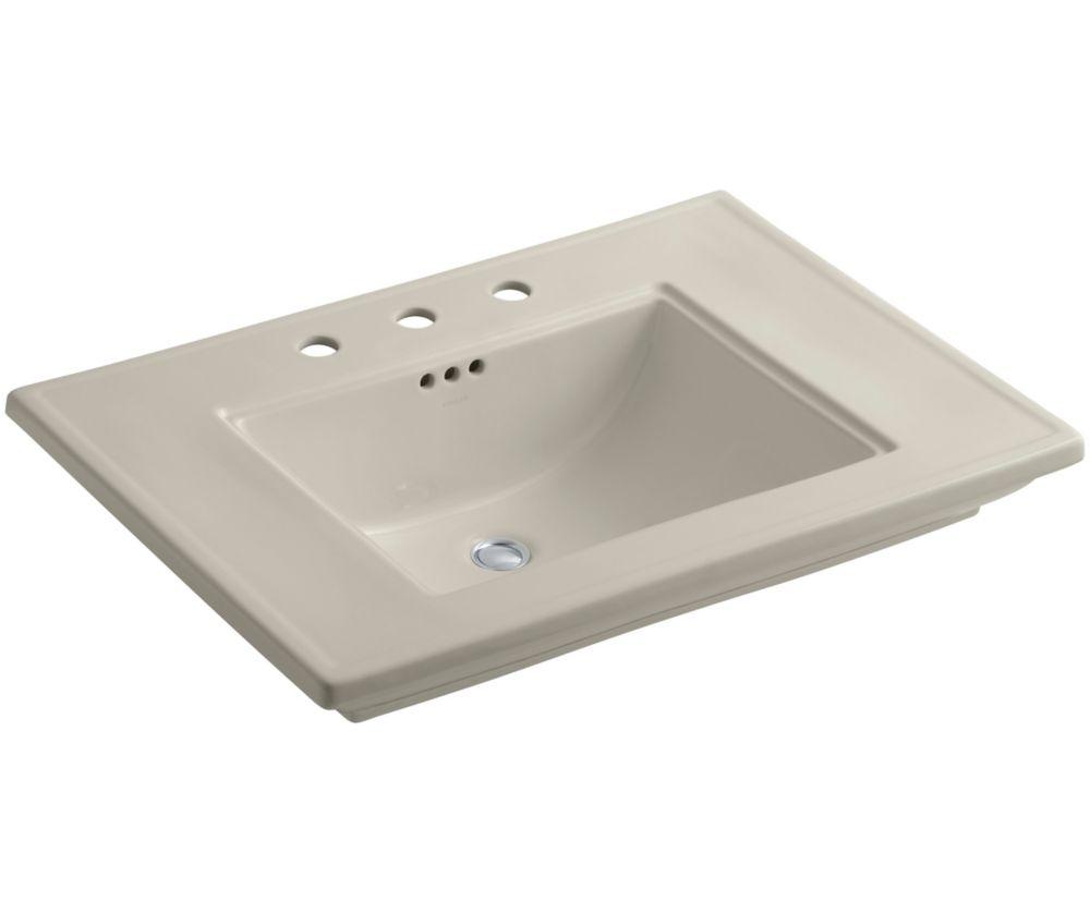 Memoirs 30-inch L x 21 3/4-inch H Bathroom Sink with Stately Design in Sandbar
