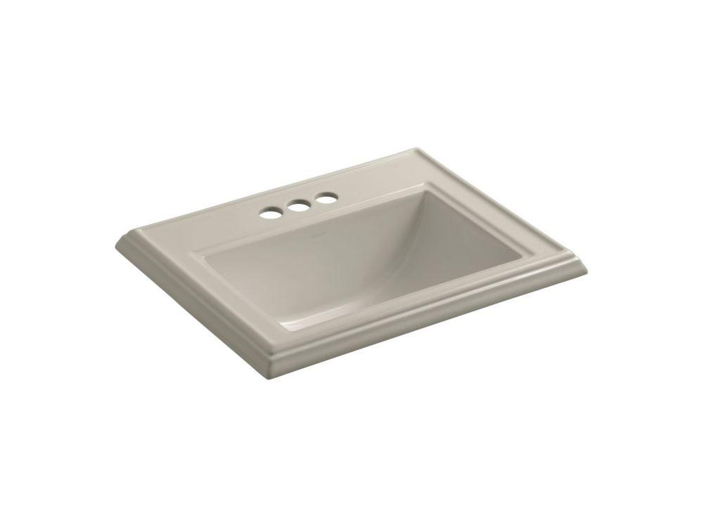 Memoirs 22 3/4-inch L x 18-inch H Self-Rimming Bathroom Sink in Sandbar