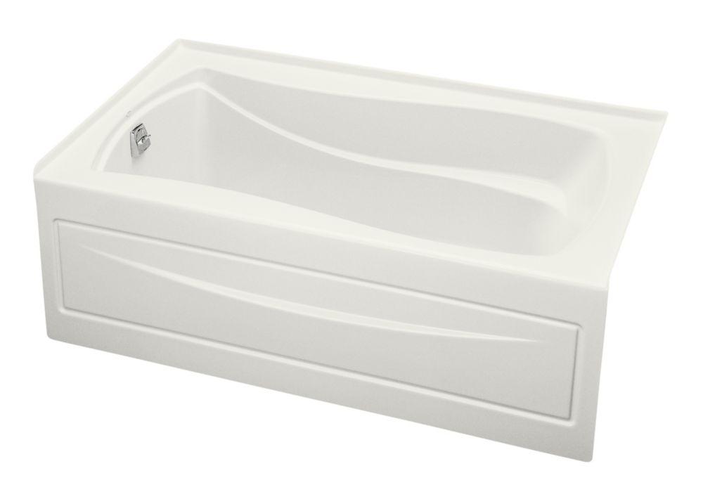 Mariposa 5 Feet Bathtub with Left-Hand Drain in White